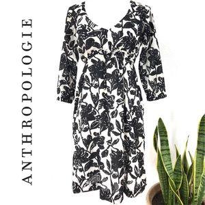 ANTHROPOLOGIE Black & White Cotton Dress Size 2